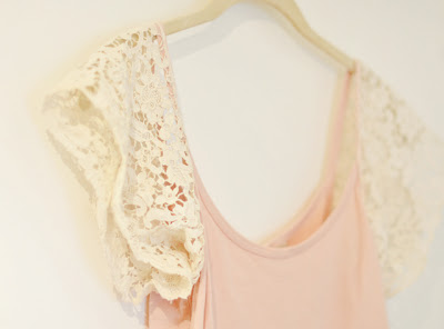 lace sleeve tank top DIY-9