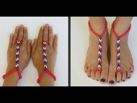 how-to-make-advanced-rainbow-loom-barefoot-sandals-diy-tutorial-step-by-step-instructions