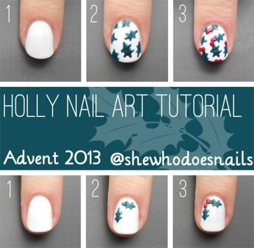 Easy-Step-By-Step-Christmas-Nail-Art-Tutorials-For-Beginners-Learners-2014-2