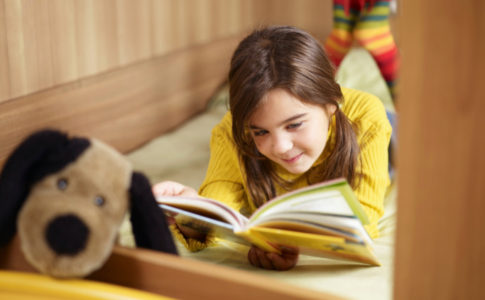 girl reading book