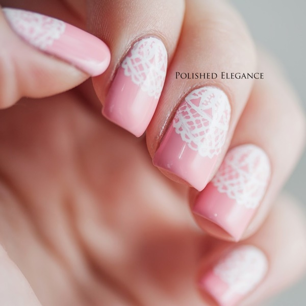Cute-Pink-and-White-Nails-Designs-11