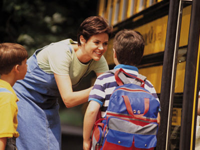 Mom-at-school-bus