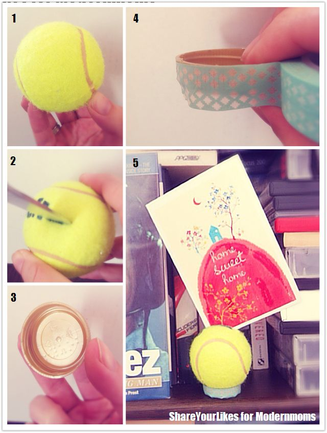 DIY_STEPS_tennis ball photo frame