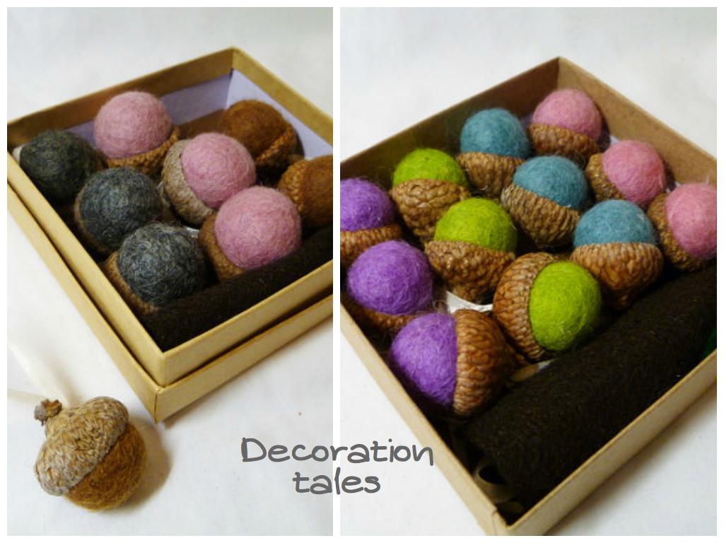Felt acorns2