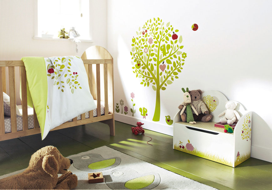 Best-tree-wall-decal-for-nursery-baby-bedroom-with-nature-themed-pictures