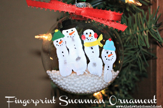 Snowman-Fingerprint-Ornament