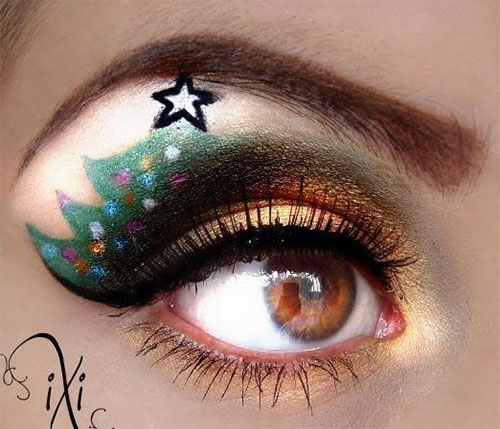 Creative-Christmas-Party-Or-Fantasy-Eye-Make-Up-Ideas-Looks-X-mas-Eyeshadows-12