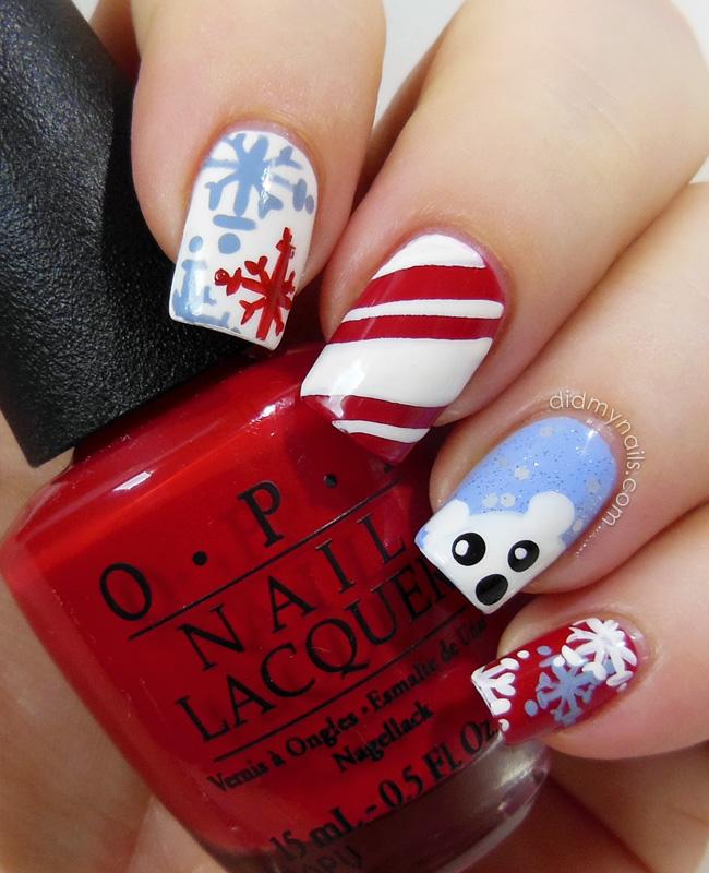 christmas-nail-art-snow-bear-1