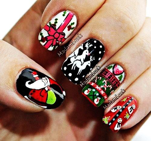 diy christmas nail art with scotch tape - cute christmas nail art with scotch tape-f64772