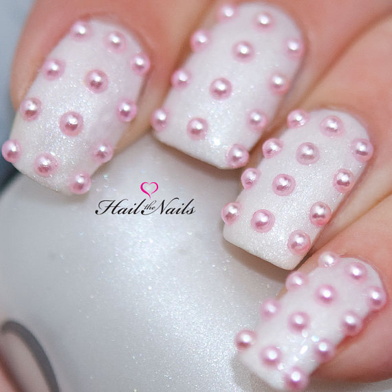 pink-pearl-studs-nail-art-150-pearls-per-pack-create-salon-professional-nails-in-5-minutesyd027-new